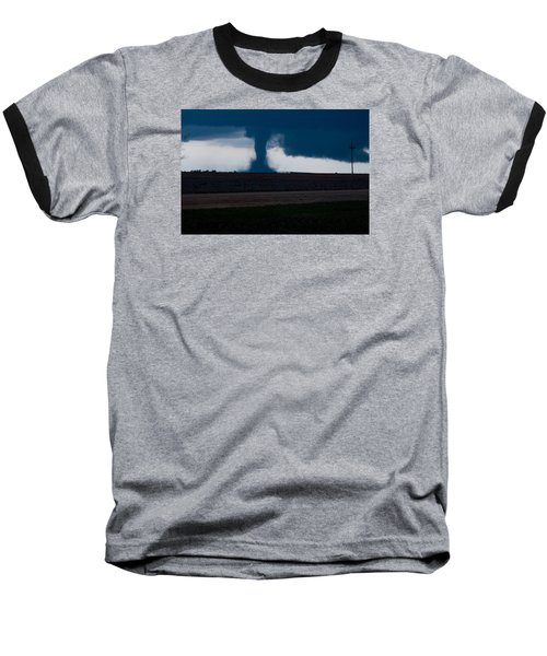 Baseball T-Shirt featuring the photograph Terror On The Horizon In Western Kansas by Shirley Heier