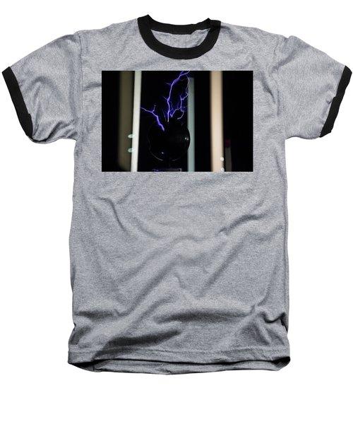 Tesla Coil 2 Baseball T-Shirt