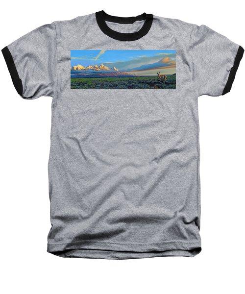 Teton Morning Baseball T-Shirt by Paul Krapf