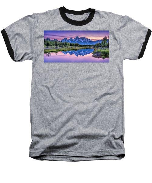 Sunset Teton Reflection Baseball T-Shirt