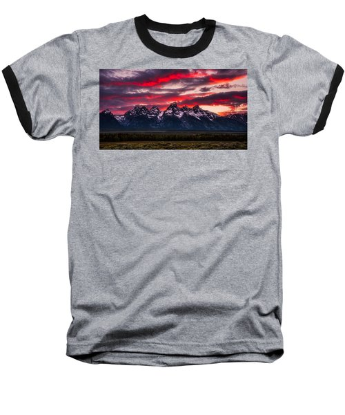 Teton Sunset Baseball T-Shirt