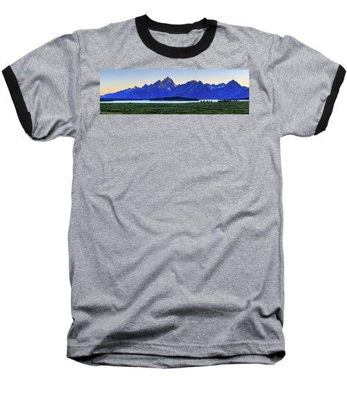 Baseball T-Shirt featuring the photograph Teton Sunset by David Chandler