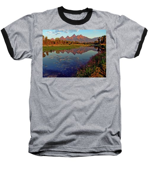 Teton Wildflowers Baseball T-Shirt by Scott Mahon