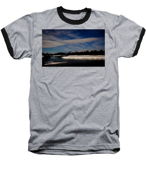 Tetons At Moonlight Baseball T-Shirt