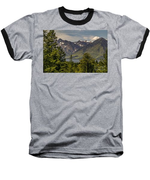 Tetons Landscape Baseball T-Shirt by Sue Smith