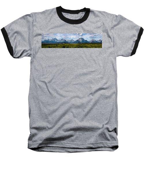 Tetons - Panorama Baseball T-Shirt