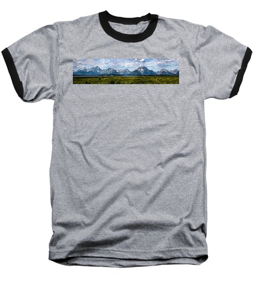 Tetons - Panorama Baseball T-Shirt