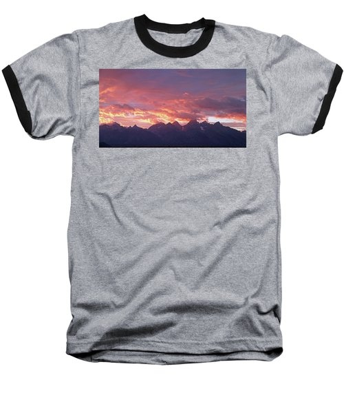 Tetons Sunset Baseball T-Shirt