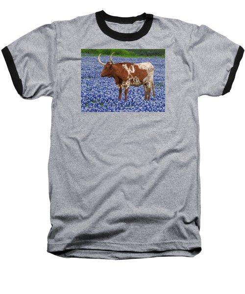 Da227 Tex And The Bluebonnets Daniel Adams Baseball T-Shirt