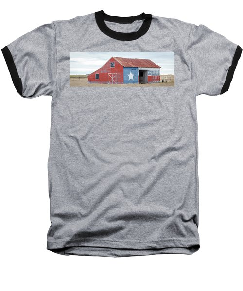 Texas Barn With Goats And Ram On The Side Baseball T-Shirt