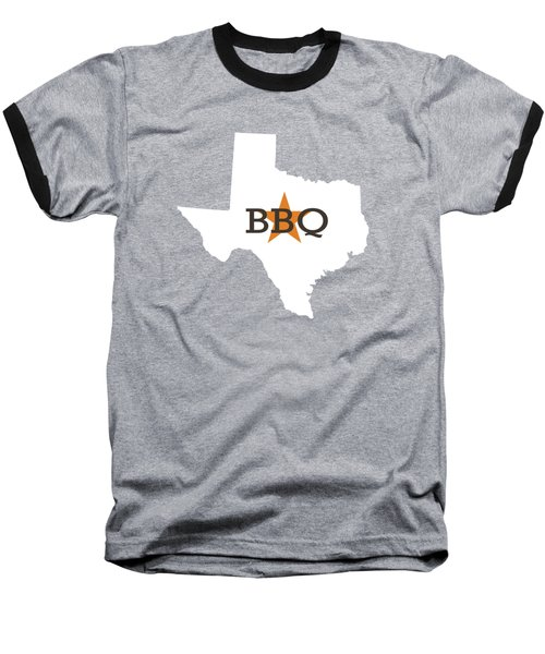 Texas Bbq Baseball T-Shirt by Nancy Ingersoll