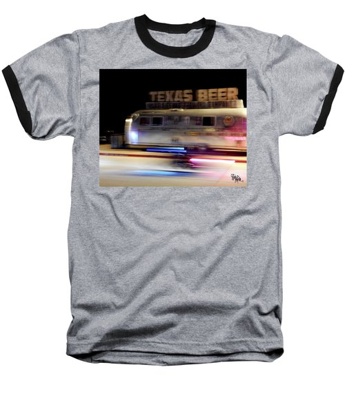 Texas Beer Fast Motorcycle #5594 Baseball T-Shirt by Barbara Tristan