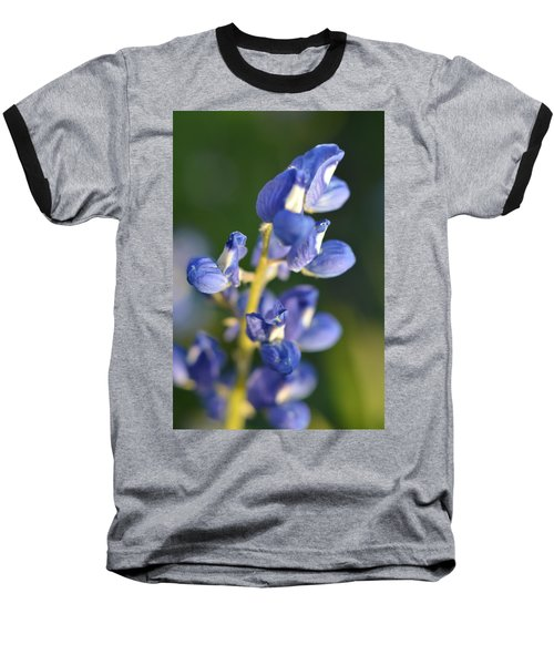 Texas Blue Bonnet Details 1 Baseball T-Shirt by Carolina Liechtenstein