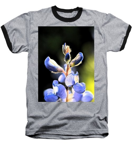 Baseball T-Shirt featuring the photograph Texas Blue Bonnet Impressions 1 by Carolina Liechtenstein