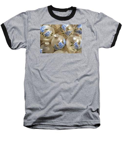 Texas Bluebonnet Ornaments Baseball T-Shirt by Betty Denise