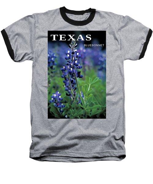 Baseball T-Shirt featuring the mixed media Texas Bluebonnet State Flower by Daniel Hagerman