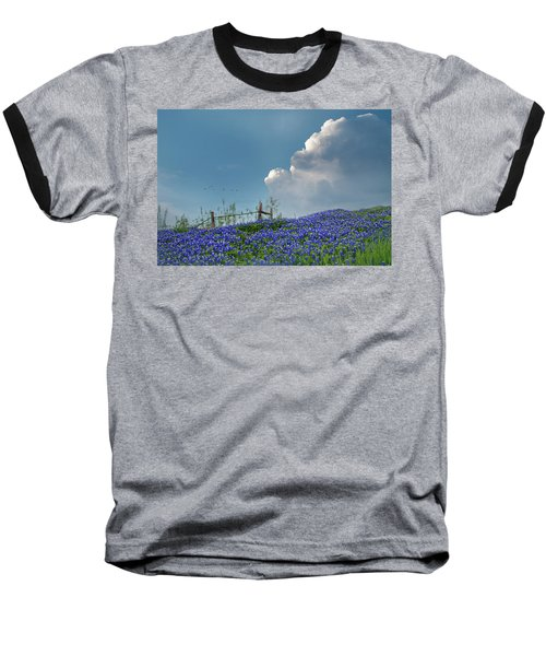 Baseball T-Shirt featuring the photograph Texas Bluebonnets And Spring Showers by David and Carol Kelly