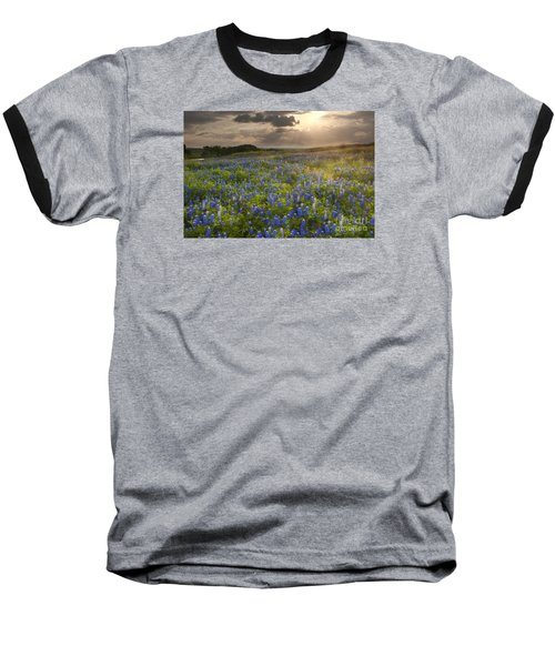 Texas Bluebonnets At Sunrise Baseball T-Shirt