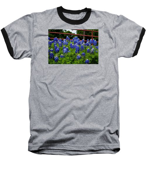 Texas Bluebonnets In Ennis Baseball T-Shirt