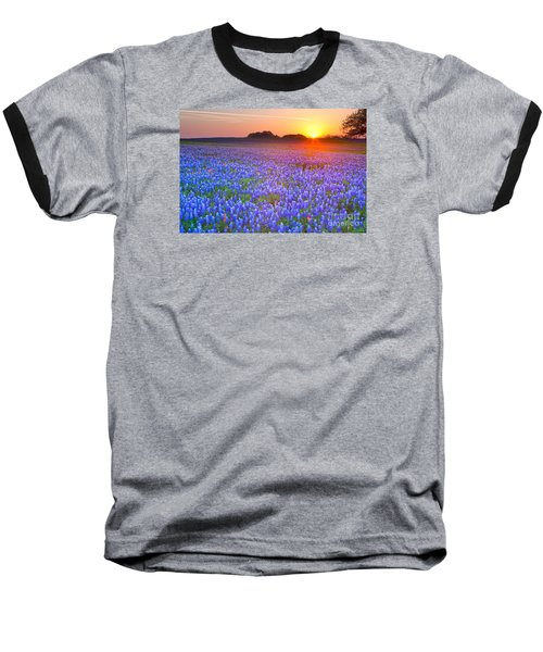 Baseball T-Shirt featuring the photograph Texas Bluebonnets by Keith Kapple