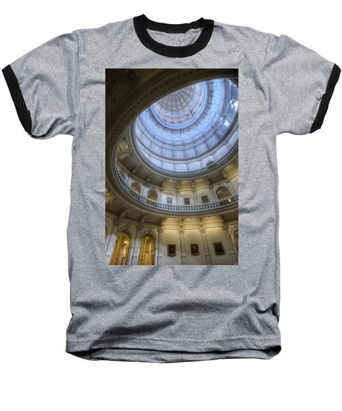 Texas Capitol Dome Interior Baseball T-Shirt