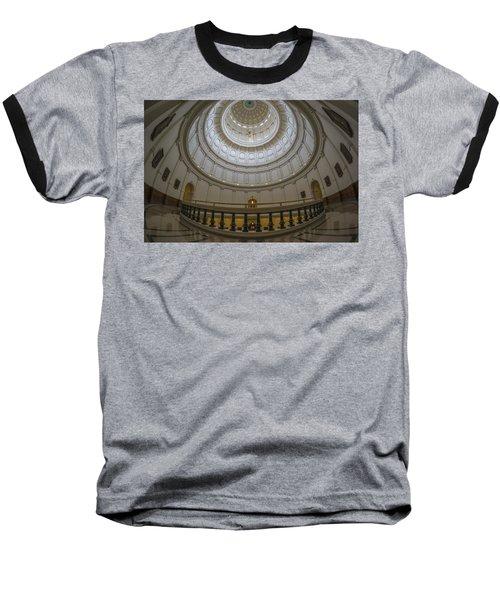 Texas Capitol Dome Wide Angle Baseball T-Shirt