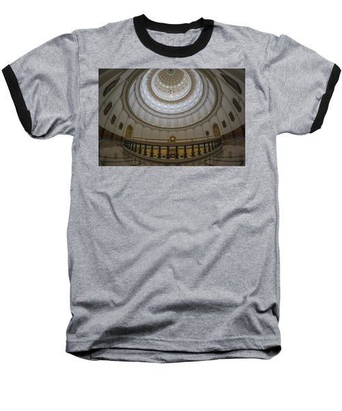 Texas Capitol Dome Wide Angle Baseball T-Shirt