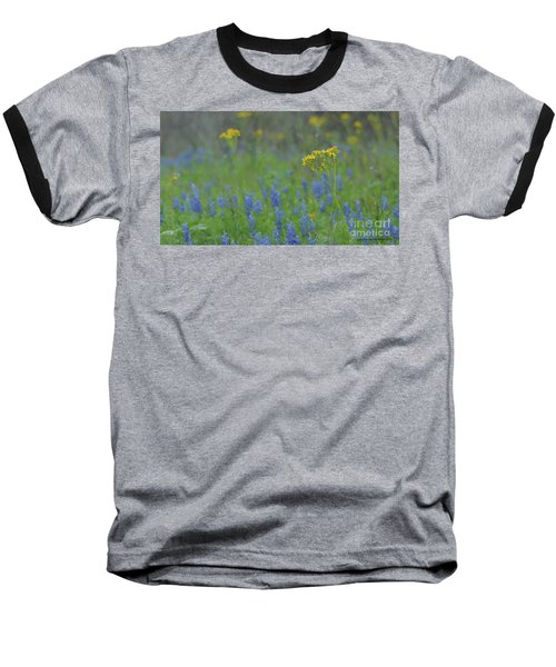 Texas Field With Blue Bonnets Baseball T-Shirt by Carolina Liechtenstein