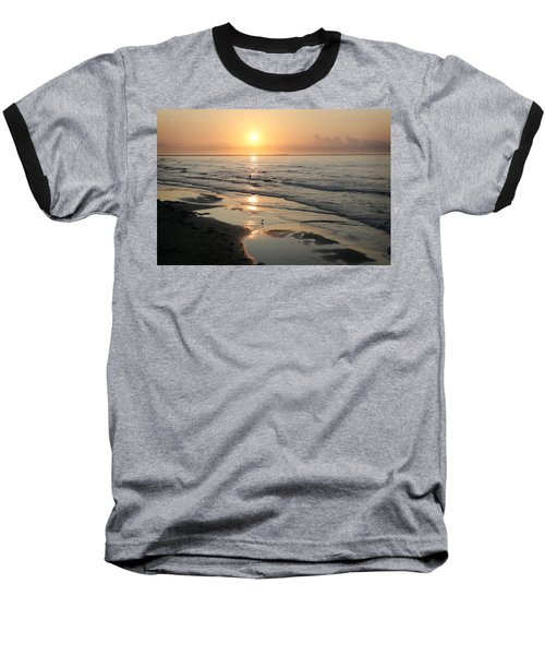 Texas Gulf Coast At Sunrise Baseball T-Shirt