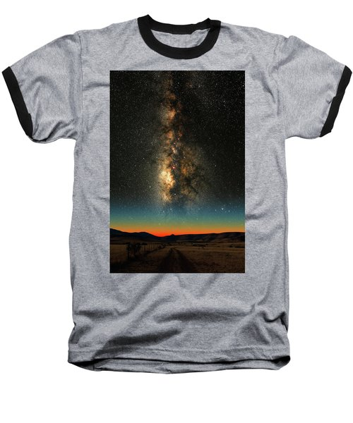 Baseball T-Shirt featuring the photograph Texas Milky Way by Larry Landolfi