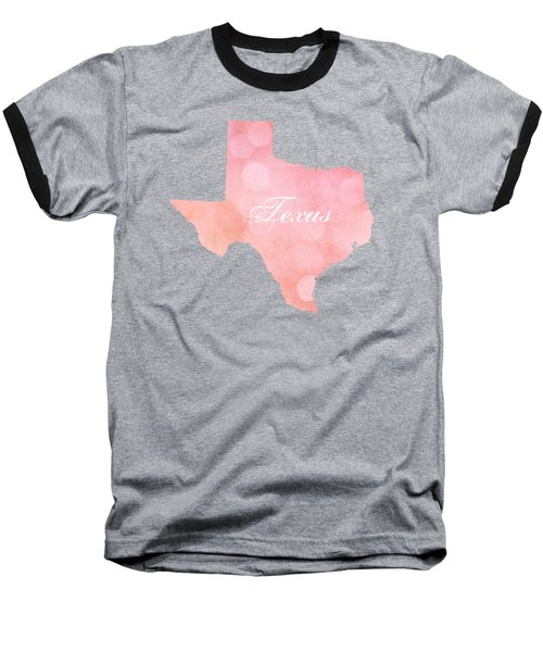 Texas Pink And Coral Bokeh Baseball T-Shirt