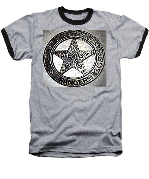 Baseball T-Shirt featuring the photograph Texas Ranger Badge by George Pedro