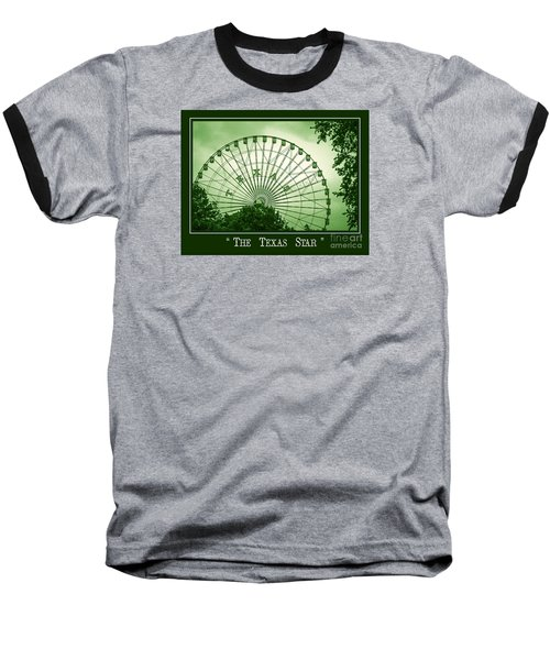 Texas Star In Green Baseball T-Shirt