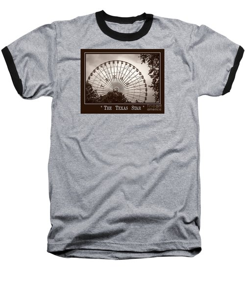 Texas Star In Sepia Baseball T-Shirt