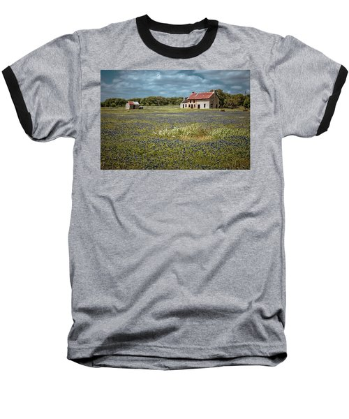 Baseball T-Shirt featuring the photograph Texas Stone House by Linda Unger