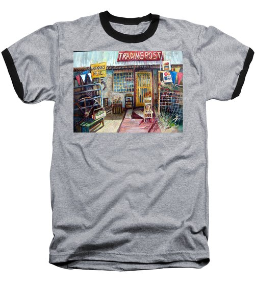 Texas Store Front Baseball T-Shirt by Linda Shackelford