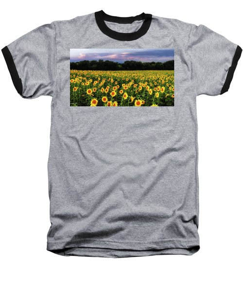 Texas Sunflowers Baseball T-Shirt