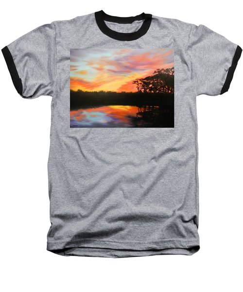Texas Sunset Silhouette Baseball T-Shirt by Patti Gordon