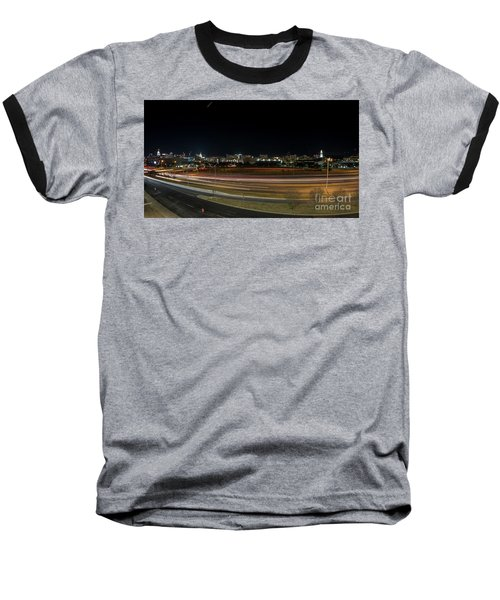 Texas University Tower And Downtown Austin Skyline From Ih35 Baseball T-Shirt