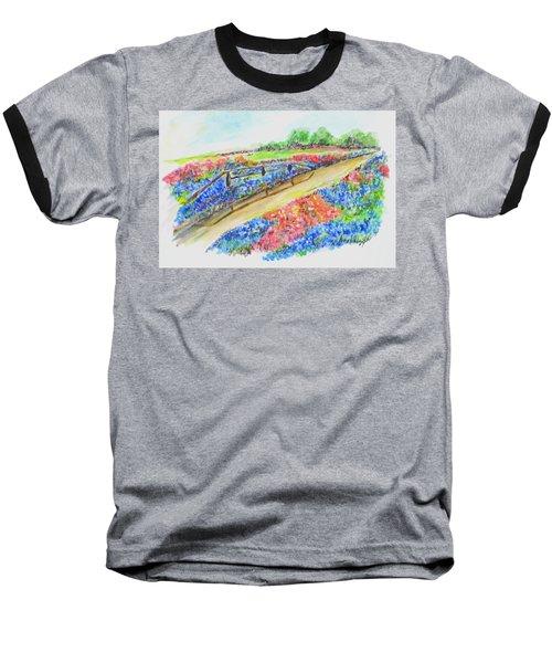 Texas Wild Flowers Baseball T-Shirt