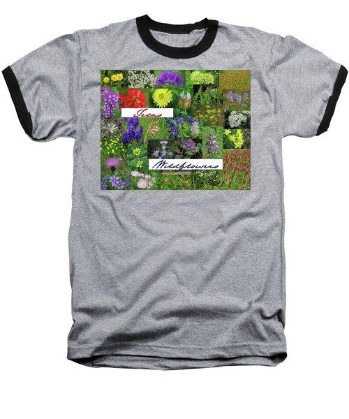 Texas Wildflower Collage Baseball T-Shirt