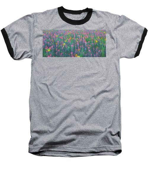 Texas Wildflowers Abstract Baseball T-Shirt