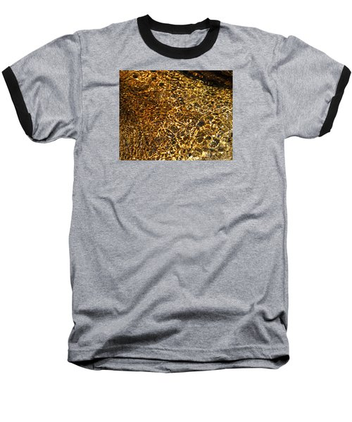 Baseball T-Shirt featuring the photograph Texture Of A Stream by Lynda Lehmann