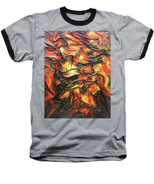 Texture Of Fire Baseball T-Shirt