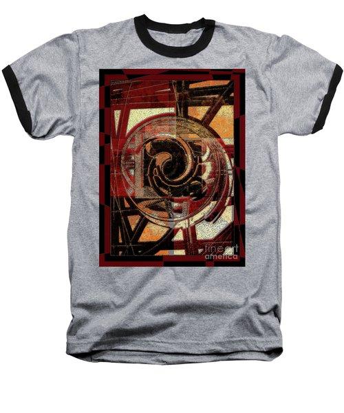 Textured Abstract Baseball T-Shirt