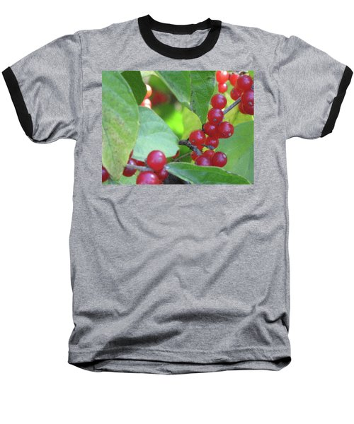 Textured Berries Baseball T-Shirt
