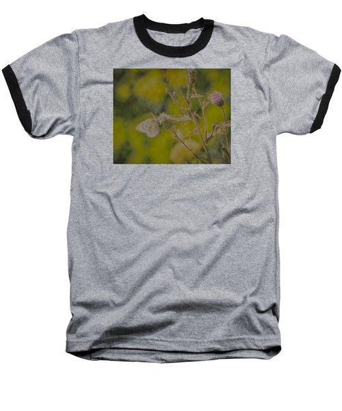 Textured Butterfly 1   Baseball T-Shirt by Leif Sohlman