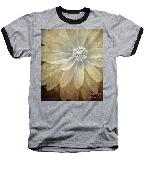 Textured Dahlia Baseball T-Shirt