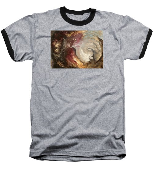 textured fluid acrylic original painting SACRED Baseball T-Shirt