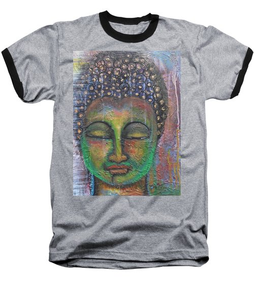 Textured Green Buddha Baseball T-Shirt